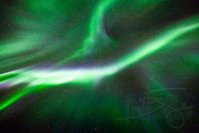 Overhead aurora. Kotzebue, AK.