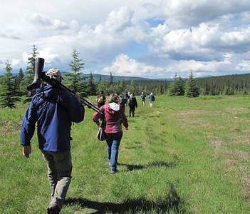 Walking to University of AK pond, Fairbanks, AK. photo by: Julie O'Neil