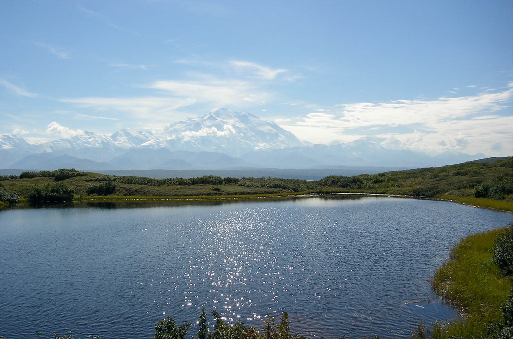 Wonder Lake and Mt. McKinley in Denali National Park, Alaska.
