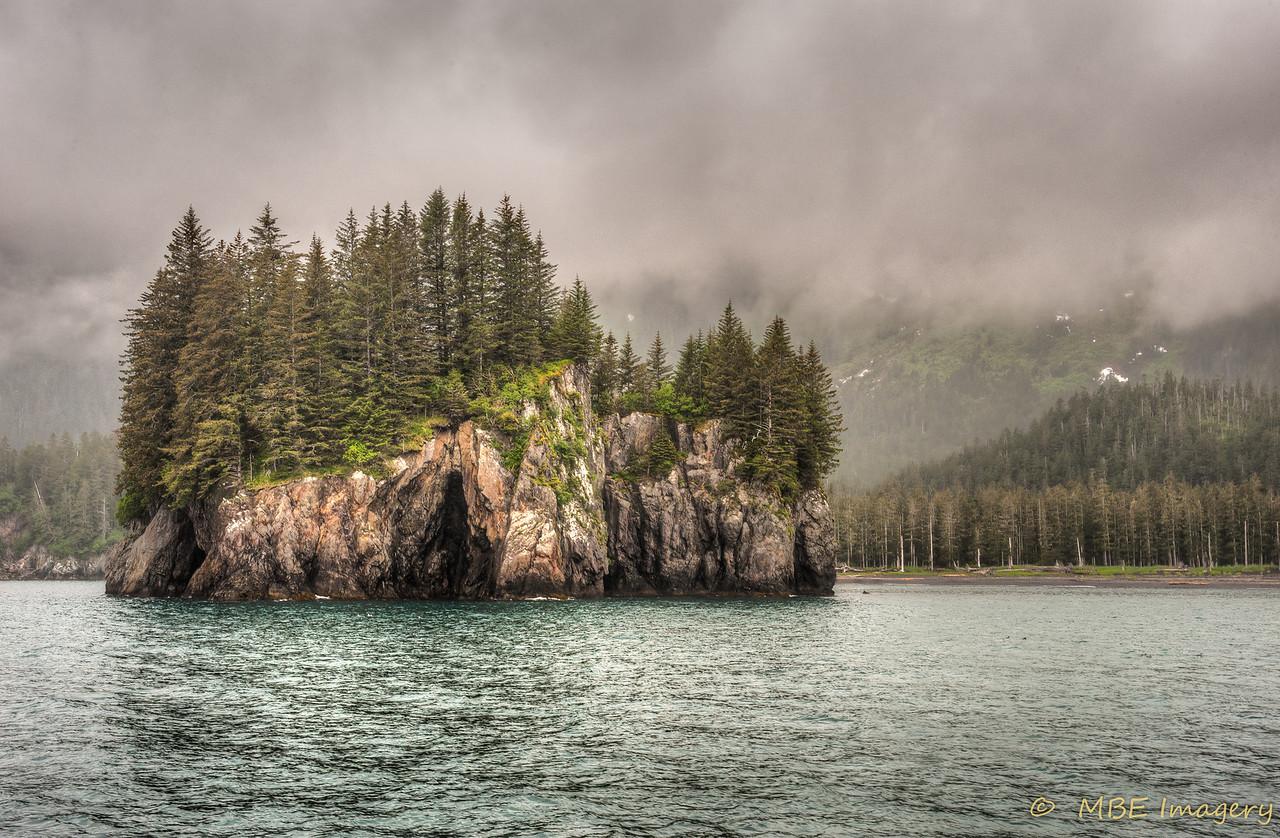 Misty Scene in Kenai Fjord