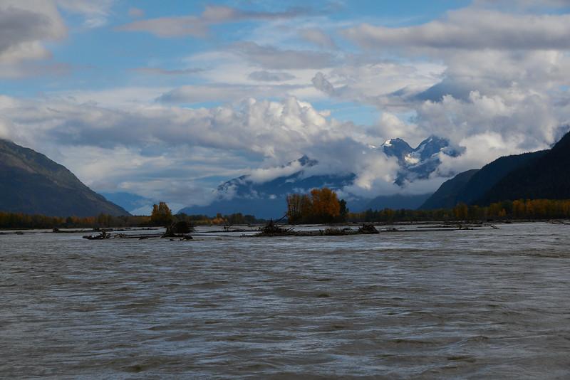 Swirling muddy waters