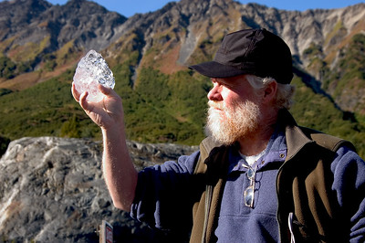 Russ with Glacier Ice- AK