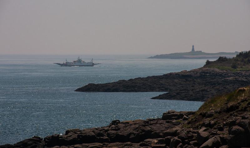 Westport Ferry and Peter Island Light