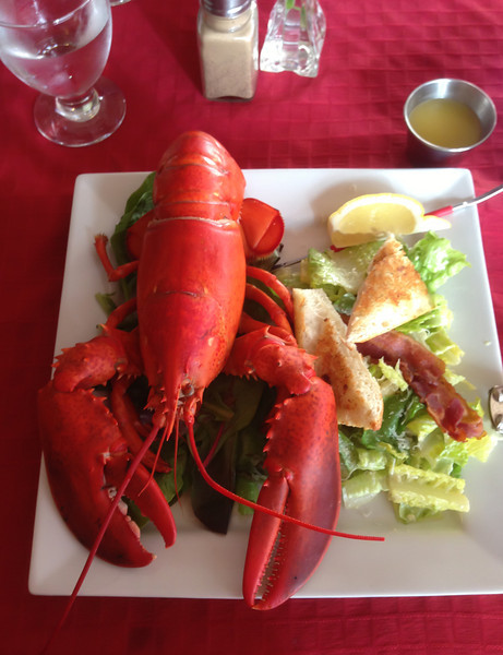 Lobster dinner at Bistro East