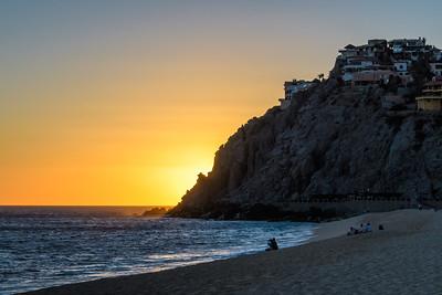 Sunset Glow on Pedregal Beach
