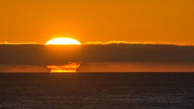 Mushroom Cloud Sun at Dawn