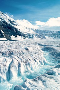 Glacial runoff on the Athabasca Glacier