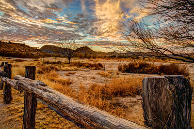 Rail Fence Sunrise