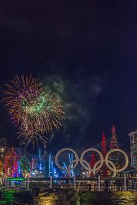 NYE Fireworks over Whistler