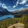 Sunny afternoon at Lake Peyto No.2