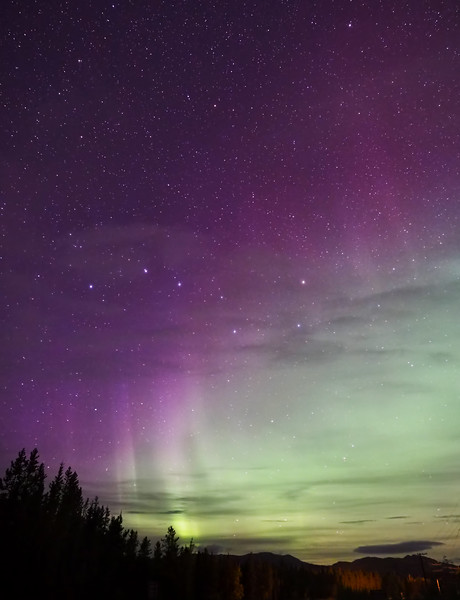 Aurora and Big Dipper