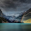 Rainbow at Lake Louise