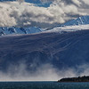 Dust clouds at Lake Kluane
