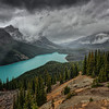 Stormy Day at Lake Peyto