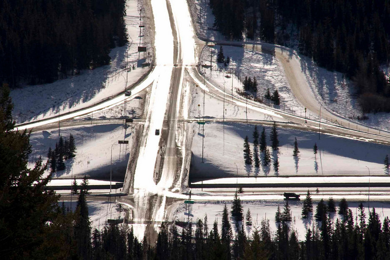 Highway 1 (Trans Canadian) from Mount Norquay Road, Banff