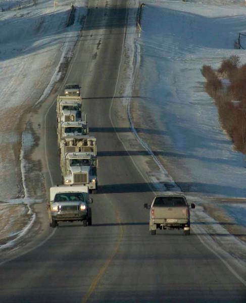 Logging Trucks on Highway 22 (The Cowboy Trail), Alberta