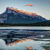 Mt Rundle at Sunset