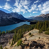 Sunny afternoon at Lake Peyto No.3