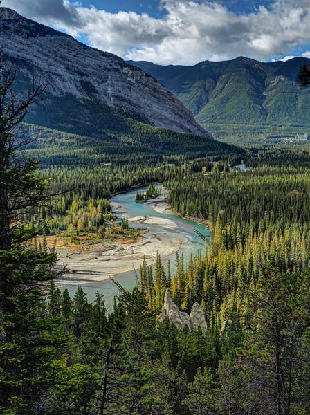 Hoodoos and the Bow River