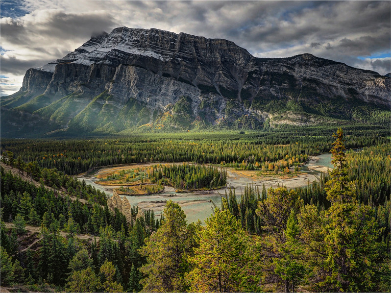 Bow River Valley and Mt Rundle