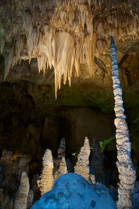 A huge stalactite formation at UNESCO #721 Carlsbad Caverns N.P.