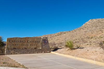 Entering Carlsbad Caverns National Park