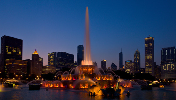 Buckingham Fountain, Chicago, 2009