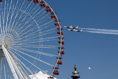 Thunderbirds and Ferris Wheel