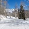 Ian through the Aspen at Purgatory Ski Resort, Colorado.
