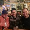 Tara, Ian, and Wayne at Kip's Grill upon arrival to Pagosa Springs, Colorado.