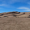 Panorama of Great Sand Dunes National Park and Preserve, southern Colorado.