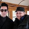 Ian and Tara in our coach of the Durango & Silverton Narrow Guage Railroad.