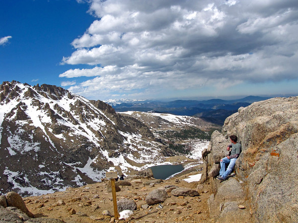 Looking out across the Rockies from near the Mount Evans summit.