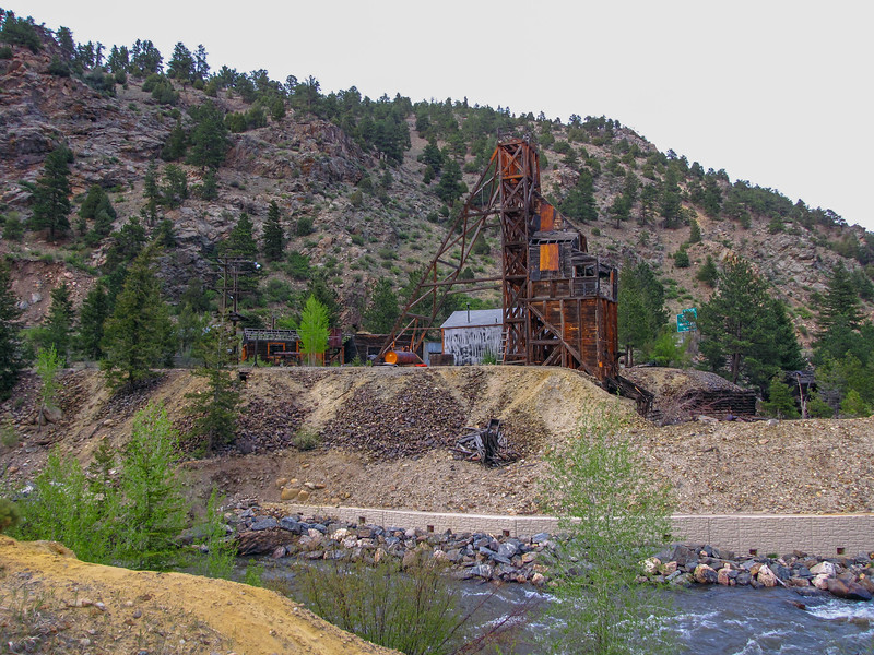 Mine near Idaho Springs, Colorado. This old mine is right on I-70.