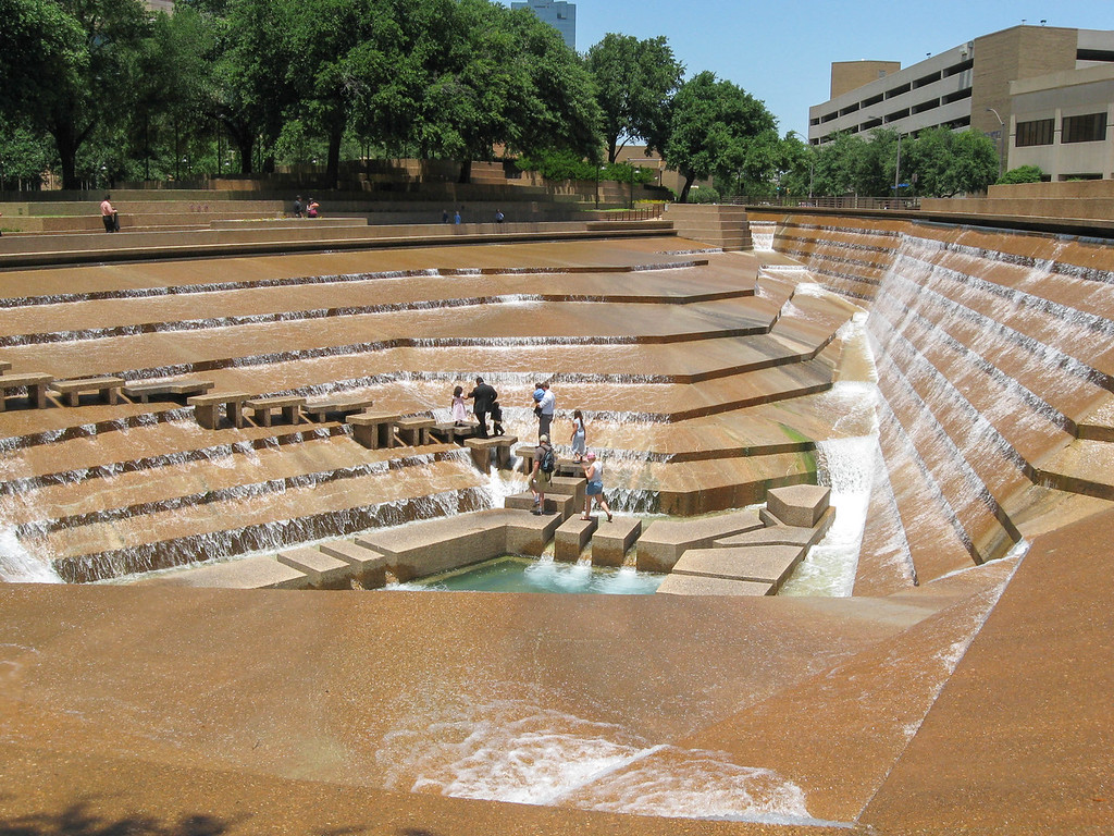 Active Pool at the Fort Worth Water Gardens