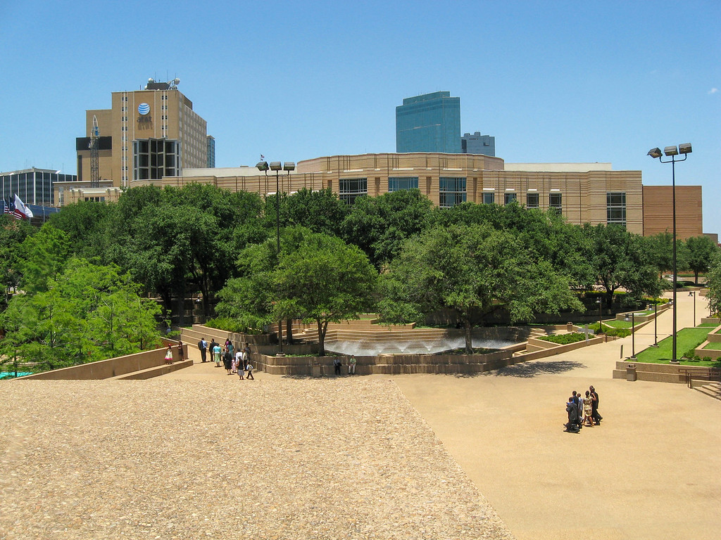 View from the top of The Mountain at the Fort Worth Water Gardens