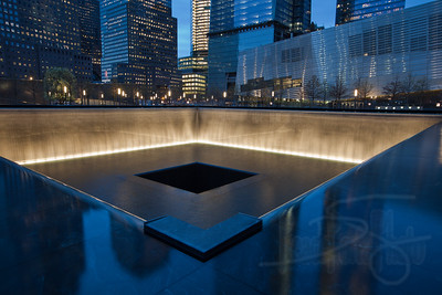 World Trade Center Memorial Site. South Tower footprint. NYC.