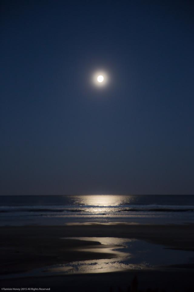 Predawn  moonset