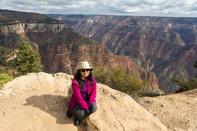 Sheri sitting on the edge