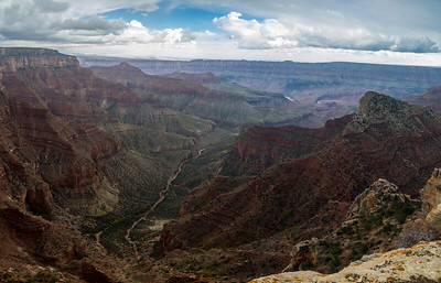 A view of the Colorado River in the distance
