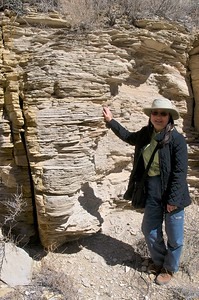 Unusual rock layer formations