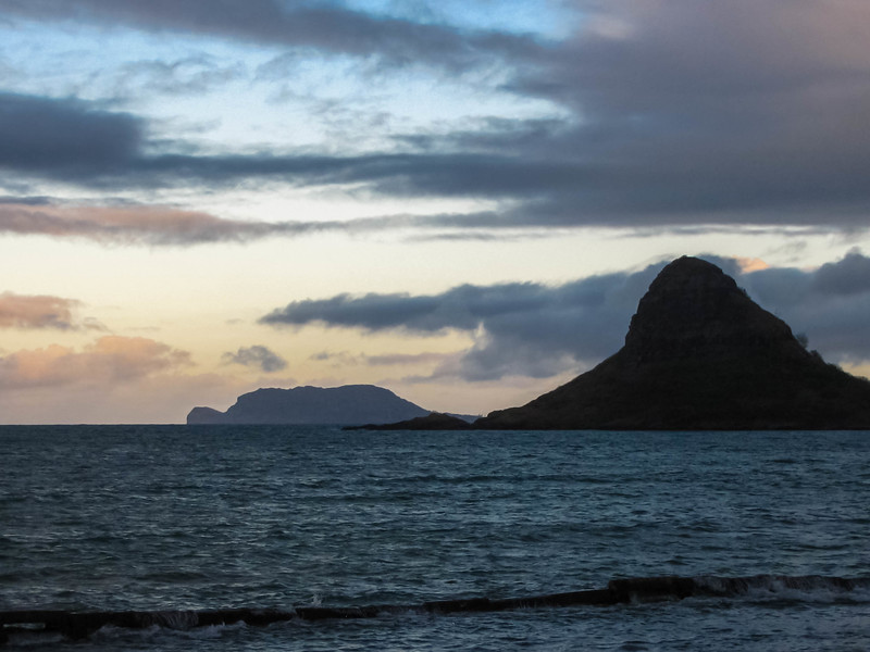 Chinaman's Hat (Mokolii Island), as seen from Kualoa Regional Park on the windward side of Oahu.