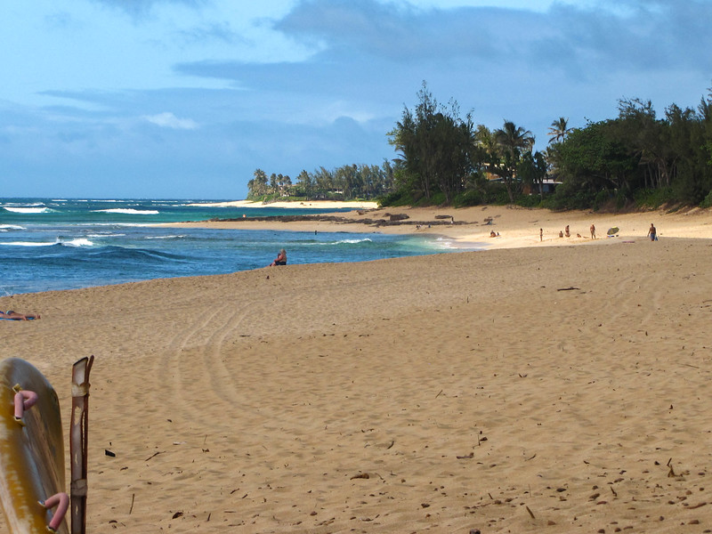 A beach on Oahu's North Shore.