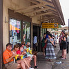 The famous M. Matsumoto Grocery Store in Haleiwa, home of the best Hawaiian shave ice.