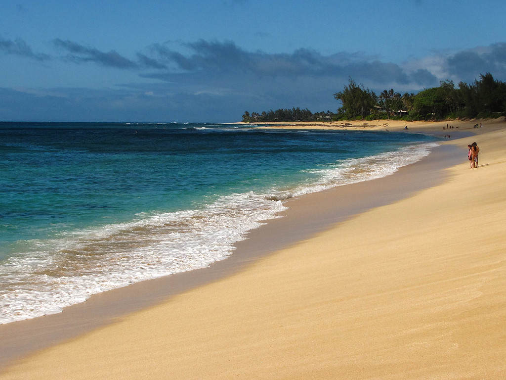 A beach on Oahu's North Shore.