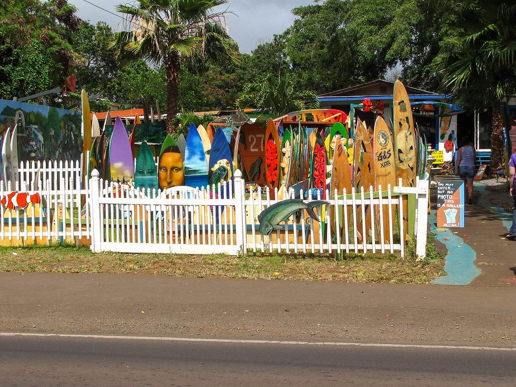 A North Shore surf shop.