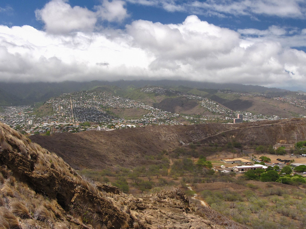 Climbing Diamond Head.