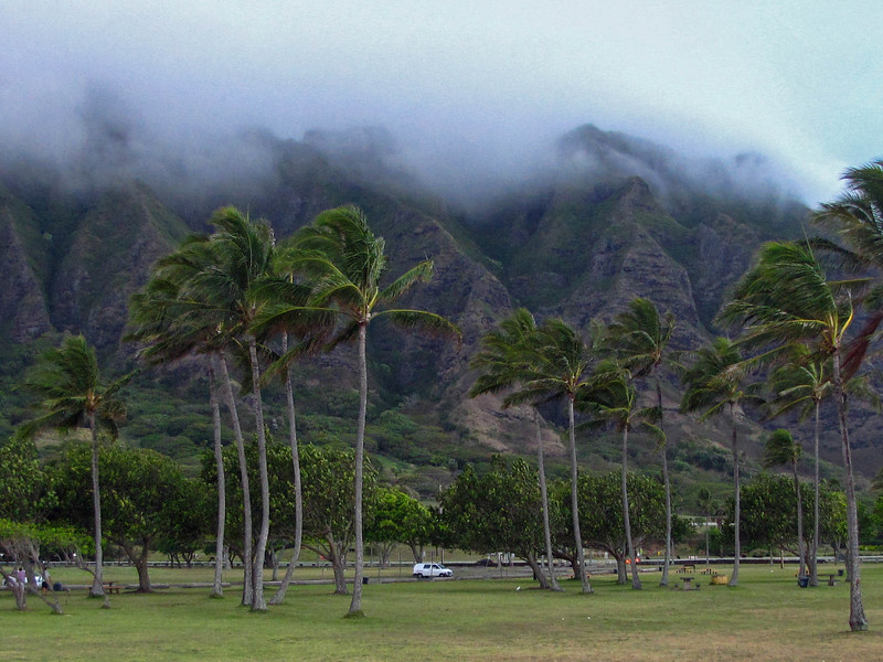 Kualoa Regional Park, windward side of Oahu.