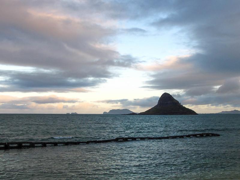 Chinaman's Hat (Mokolii Island), as seen from Kualoa Regional Park on the windward side of Oahu.