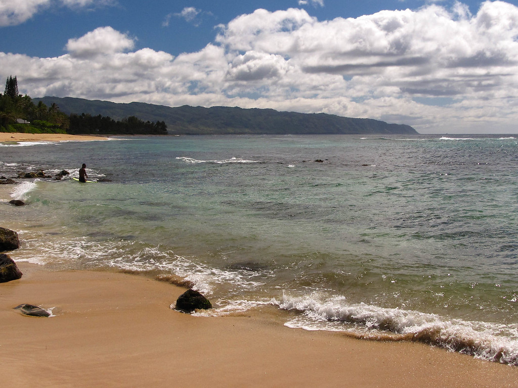 North Shore beach.